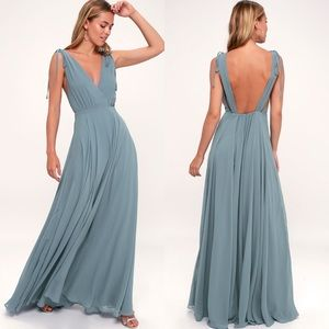 NWT Lulu's Dance The Night Away Blue dress - SMALL